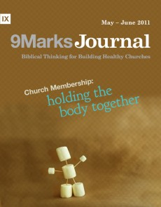 9Marks Journal: Church membership: Holding the body together