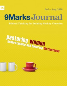 9Marks Journal: Pastoring women